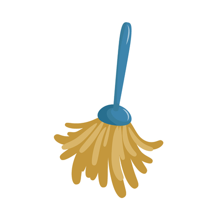 Ilustración de Cartoon simple feather duster icon. Spring cleaning  duster brush icon isolated on white background. Vector illustration. - Imagen libre de derechos