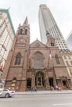 NEW YORK - JUL 17: Fifth Avenue Presbyterian Church (FAPC) in New York on July 17, 2014. FAPC is among the largest congregations of the Presbyterian Church (U.S.A.) in New York City and nationally.