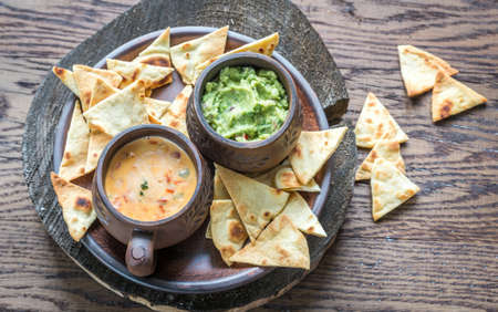 Queso and guac