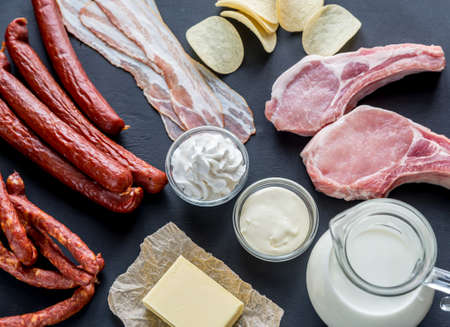 Saturated fats sources