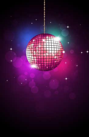 Photo pour retro music party disco ball neon colors of 80s new wave - image libre de droit