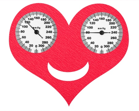 Happy heart and normal blood pressure on the scales