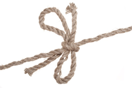 Knot and bow on rope