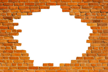 Photo for White hole in old wall - Royalty Free Image