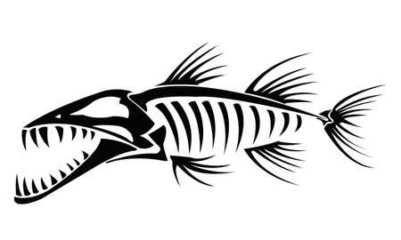 Illustration pour Barracuda skeleton - image libre de droit