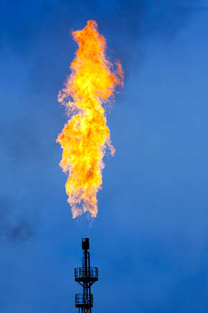 Oil Industry: Flare Stack