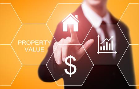 Property Value Real Estate Market Internet Business Technology Concept.