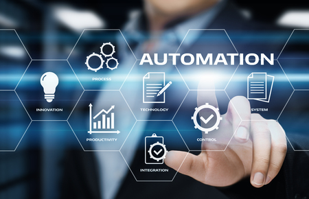 Photo for Automation Software Technology Process System Business concept. - Royalty Free Image