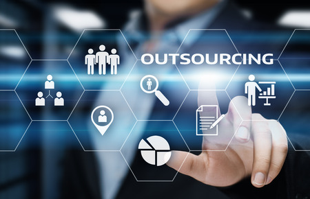 Photo for Outsourcing Human Resources Business Internet Technology Concept. - Royalty Free Image