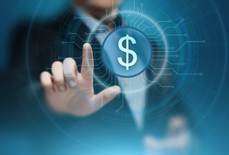 Photo pour Dollar Currency Business Banking Finance Technology Concept. - image libre de droit