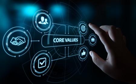 Photo pour Core Values Responsibility Ethics Goals Company concept. - image libre de droit