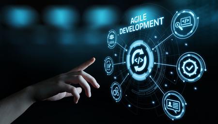 Foto de Agile Software Development Business Internet Techology Concept. - Imagen libre de derechos