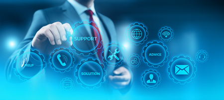 Photo pour Technical Support Center Customer Service Internet Business Technology Concept. - image libre de droit