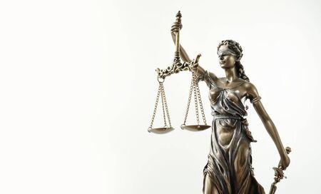 Photo pour Themis Statue Justice Scales Law Lawyer Concept - image libre de droit