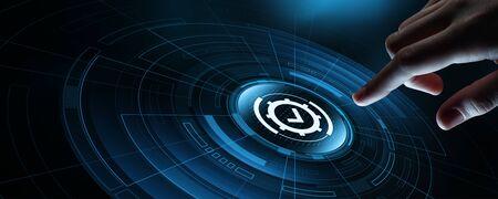 Photo pour Standard Quality Control Certification Assurance Guarantee Internet Business Technology Concept - image libre de droit