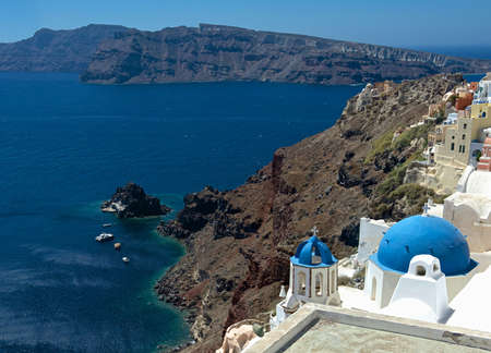 The blue dome of Oia