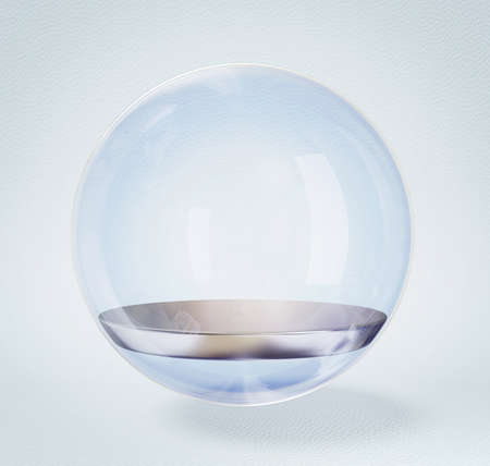 glass sphere isolated on a white background.