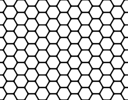 black honeycomb pattern isolated on a white