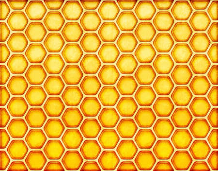 yellow honeycomb background. Vintage style with scratch.