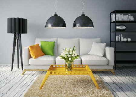 Photo pour modern interior room with a beautiful furniture - image libre de droit