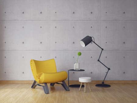modern interior room 3d illustration