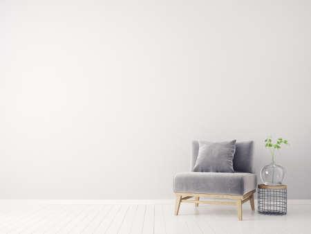 Photo pour modern interior room with nice furniture. 3d illustration - image libre de droit