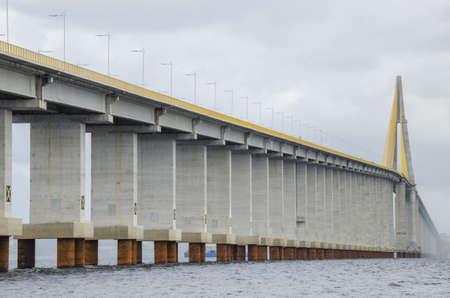 Manaus-Iranduba bridge over Negro river, in the Amazon