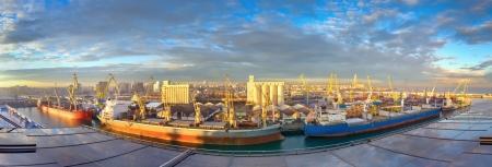 Sunny morning at seaport, Casablanca  Morocco