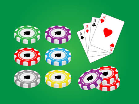 Pack with casino gambling elements