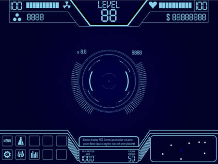 Vector elements for space shooter game