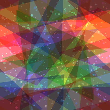 Seamless Abstract Background, Colorful Geometrical Figures, Triangles and Rounds. Eps10, Contains Transparencies. Vector