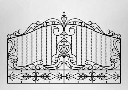 Illustration pour Forged gate - image libre de droit