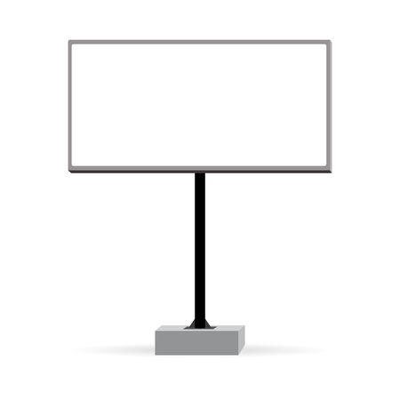 Illustration for Blank big billboard. Mockup isolated on white background for advertising banners or design. Vector EPS10. - Royalty Free Image