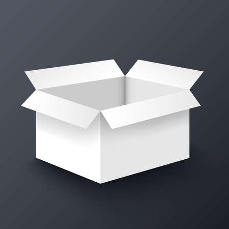 Open white box mockup design template