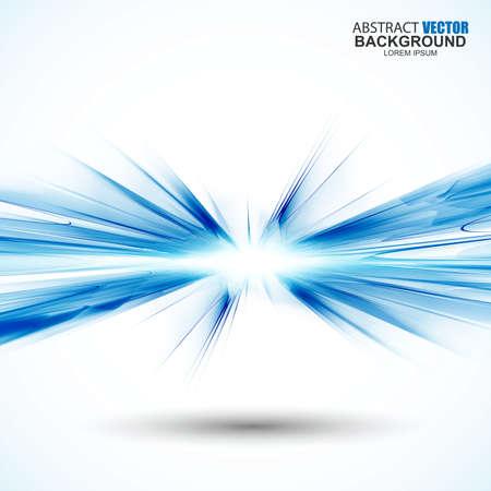Illustration pour Abstract futuristic blue wavy background - image libre de droit