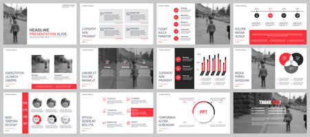Illustration for Business presentation slides templates from infographic elements. Can be used for presentation, flyer and leaflet, brochure, corporate report, marketing, advertising, annual report, banner, booklet. - Royalty Free Image