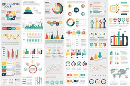 Illustration pour Infographic elements data visualization vector design template. Can be used for steps, options, business processes, workflow, diagram, flowchart concept, timeline, marketing icons, info graphics. - image libre de droit