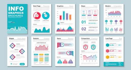 Illustration pour Infographic brochure data visualization vector design template. - image libre de droit