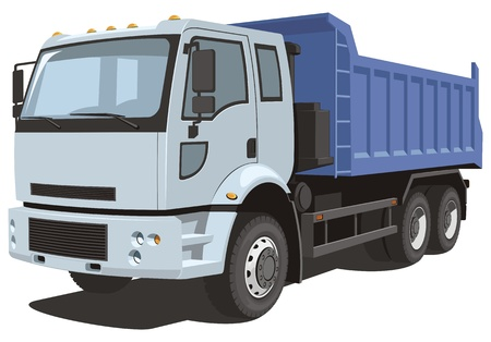 Illustration for Vector isolated dump truck - Royalty Free Image