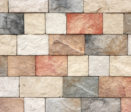 Colorful texture of sandstone brick wall texture