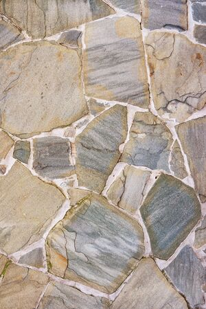 Photo for Stone wall texture. Natural cobblestone wall, high detail background. Stone road - Royalty Free Image