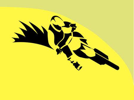 Illustration pour Motorcycle Rider motocross freeride racer freestyle Illustration - image libre de droit