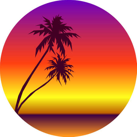 Illustration pour Summer holidays background. Seaside View Poster. Vector beach resort wallpaper - image libre de droit