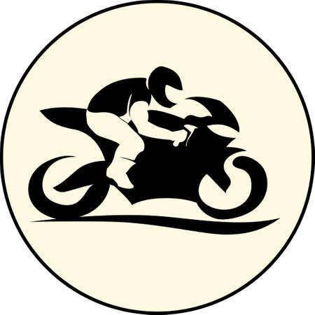Illustration pour fast extreme sport bike vector  illustration icon - image libre de droit