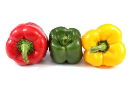 Foto für Different color sweet peppers isolated on white - Lizenzfreies Bild