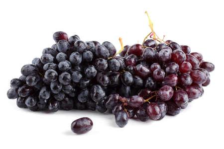 Foto für Black grape isolated on white - Lizenzfreies Bild