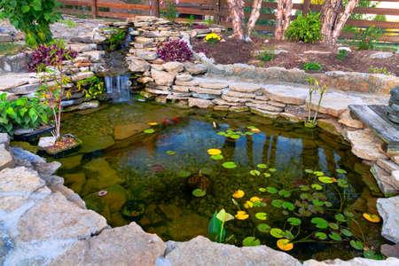 Decorative koi pond