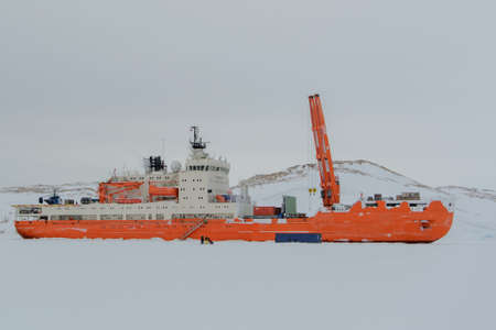Photo for Expedition ship in the ice - Royalty Free Image