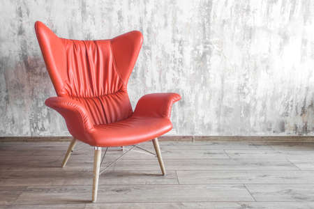 Photo pour armchair chair in the interior. color of the year 2019 Living coral - image libre de droit