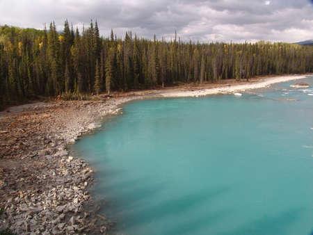 Athabasca Lake in Kanada im Jasper Banff National Park